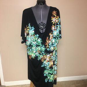 Dress Barn Floral Wrap Dress Plus Size 22